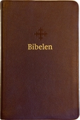 2011 Bibel mørk brun skinn, medium, register